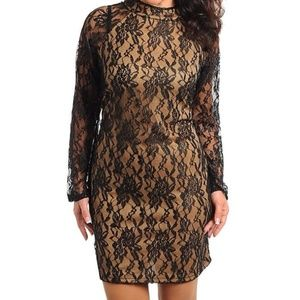 Dresses & Skirts - ***Plus Size*** Black and Nude Lace dress